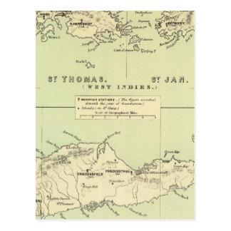 Cartão Postal St Thomas, rua janeiro, trapaceiro da rua