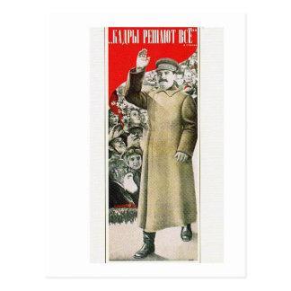 Cartão Postal stalin o líder URSS