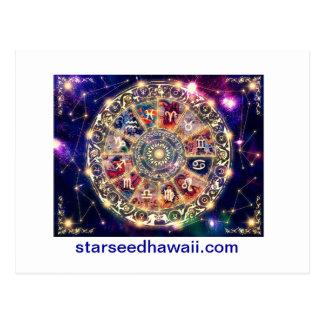 Cartão Postal starmap, starseedhawaii.com