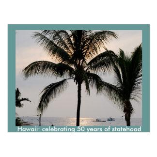 Cartão Postal Statehood havaiano
