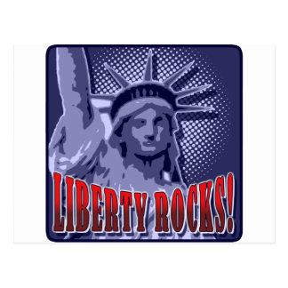 Cartão Postal Staue da liberdade: Rochas da liberdade!