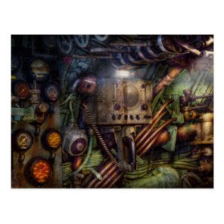 Cartão Postal Steampunk - naval - a estação do comm