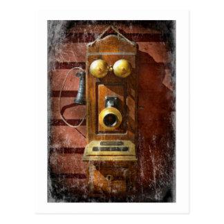 Cartão Postal Steampunk - telefone Phace
