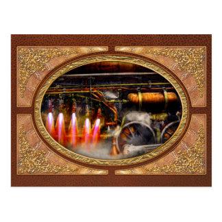 Cartão Postal Steampunk - trem - o super expressa