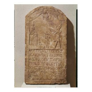 Cartão Postal Stele dedicado ao Isis que descreve Cleopatra