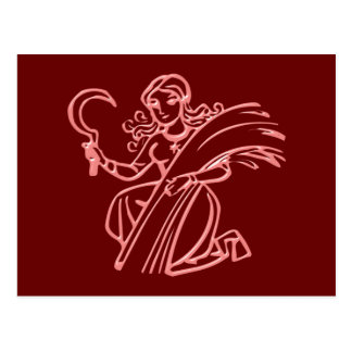 Cartão Postal Sternzeichen virgem zodiac sign Virgo