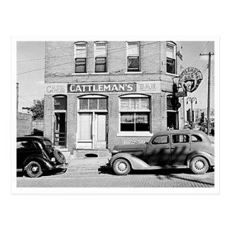 Cartão Postal Stockyards Omaha Nebraska do bar do Cattleman