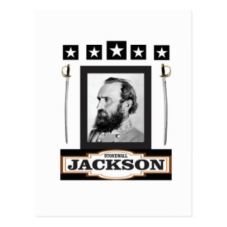 Cartão Postal stonewall a história de jackson