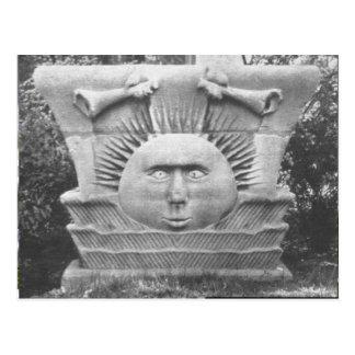 Cartão Postal Stonework do templo de Nauvoo