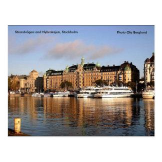 Cartão Postal Strandvägen e Nybrokajen, Stockh…