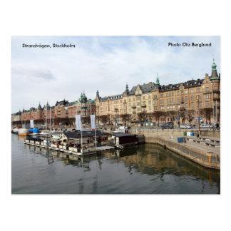 Cartão Postal Strandvägen, Éstocolmo, foto Ol…