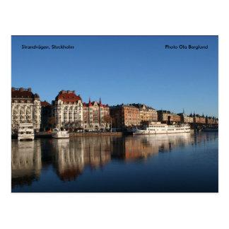 Cartão Postal Strandvägen, Éstocolmo, Ola da foto…
