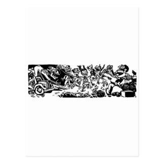 """Cartão Postal """"Strangler Calaveras"""" cerca de MÉXICO 1942"""