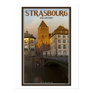 Cartão Postal Strasboug - rio e St Thomas doentes
