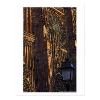 Cartão Postal Strasbourg - close up da catedral