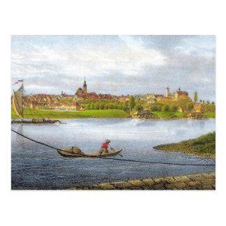 Cartão Postal Strehla por Carl Wilhelm Arldt 1840