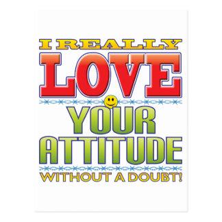 Cartão Postal Sua cara do amor da atitude