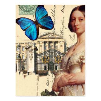 Cartão Postal Sua rainha Victoria da majestade, com borboleta