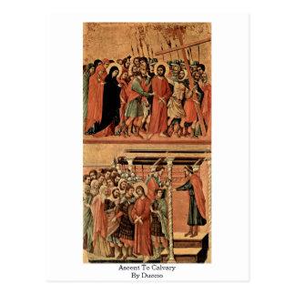 Cartão Postal Subida ao calvário por Duccio