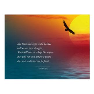 Cartão Postal Subir do senhor Eagle da bíblia do verso do 40:31