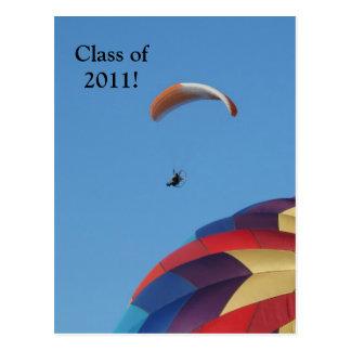 Cartão Postal Subir sobre os balões!