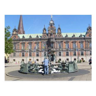 Cartão Postal Suecia de Malmö - câmara municipal