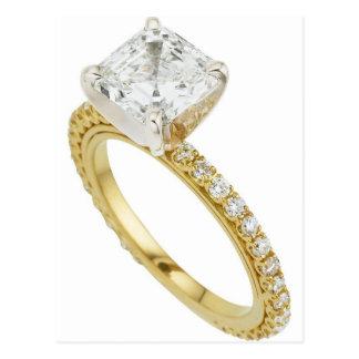 Cartão Postal Sugestão grande da sugestão do anel de noivado do