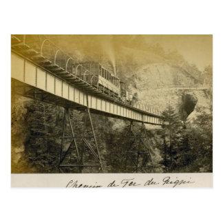 Cartão Postal Suiça 1908, Rigibahn, Vitznau
