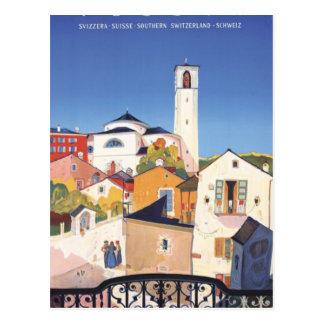 Cartão Postal Suiça do cantão de Ticino Tessin do vintage