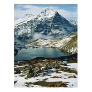 Cartão Postal Suiça, Grindelwald, cumes de Bernese, vista