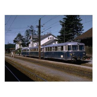 Cartão Postal Suiça, grupo do trem do motor de OBB, 1973
