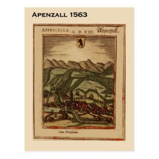 Cartão Postal Suiça histórica, Appenzall 1563