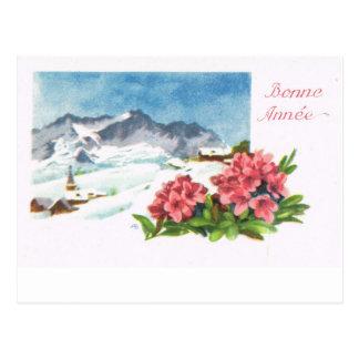 Cartão Postal Suiça Jungfrau   do vintage, Bonne Année