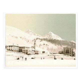 Cartão Postal Suiça no inverno