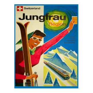 Cartão Postal Suiça, região de Jungfrau