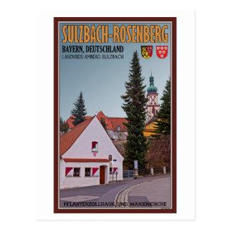 Cartão Postal Sulzbach-Rosenberg - casa de pedágio
