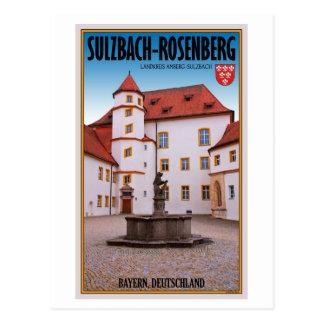 Cartão Postal Sulzbach-Rosenberg - castelo de Sulzbach