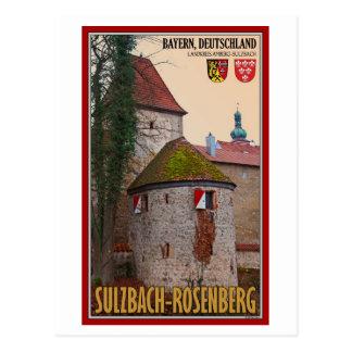 Cartão Postal Sulzbach-Rosenberg - parede da cidade