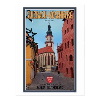 Cartão Postal Sulzbach-Rosenberg - rua do inverno