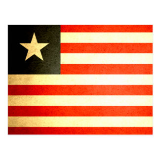 Cartão Postal Sun beijou a bandeira de Liberia
