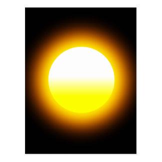 Cartão Postal Sun de incandescência