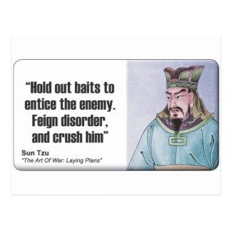 Cartão Postal Sun Tzu: Finja a desordem