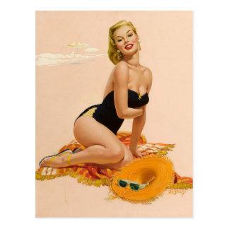 Cartão Postal Sunbather PinUp
