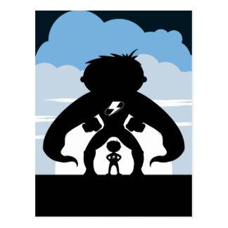 Cartão Postal Super-herói & bandido super