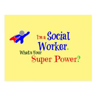 Cartão Postal Super-herói do assistente social