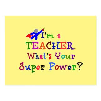 Cartão Postal Super-herói do professor