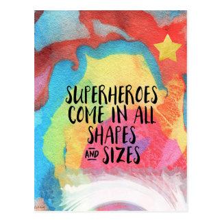 Cartão Postal super-herói-inspirado