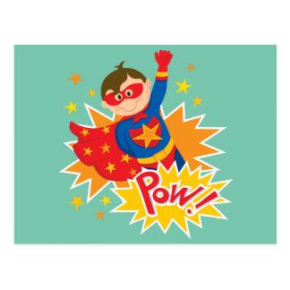 Cartão Postal Super-herói pequeno