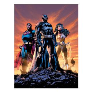 Cartão Postal Superman, Batman, & trindade da mulher maravilha