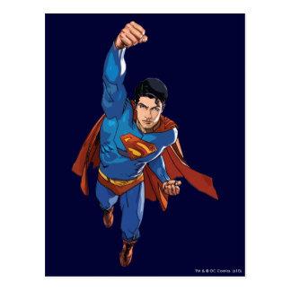 Cartão Postal Superman que voa para a frente